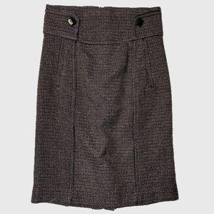 ZARA Brown Micro Plaid Skirt
